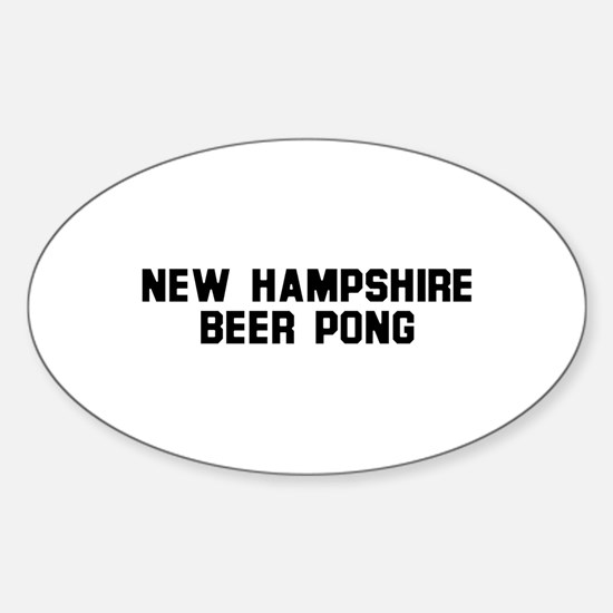 New Hampshire Beer Pong Oval Decal