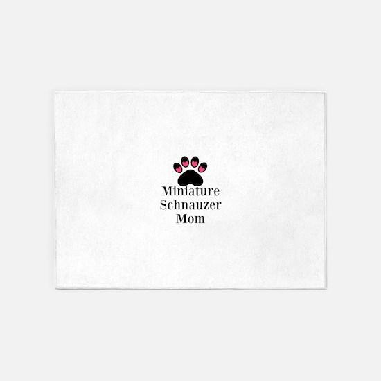 Miniature Schnauzer Mom 5'x7'Area Rug