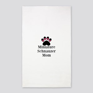 Miniature Schnauzer Mom Area Rug