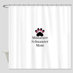 Miniature Schnauzer Mom Shower Curtain