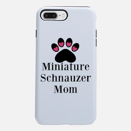 Miniature Schnauzer Mom iPhone 8/7 Plus Tough Case