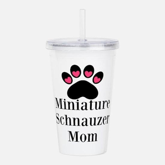 Miniature Schnauzer Mom Acrylic Double-wall Tumble