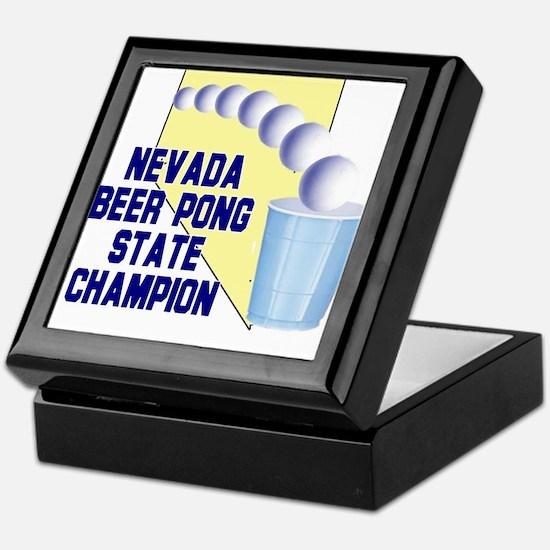 Nevada Beer Pong State Champi Keepsake Box