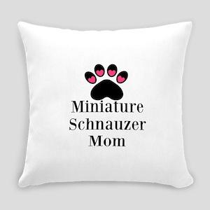 Miniature Schnauzer Mom Everyday Pillow