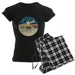 Christmas Star Women's Dark Pajamas