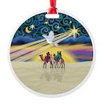 Christmas Star Round Ornament