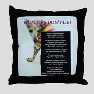 Numbers Dont Lie Throw Pillow