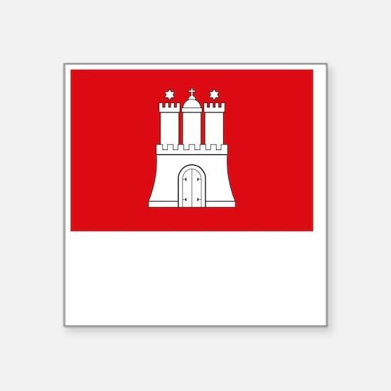 ", Germany Flag Square Sticker 3"" x 3"""