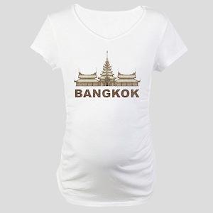 Vintage Bangkok Temple Maternity T-Shirt