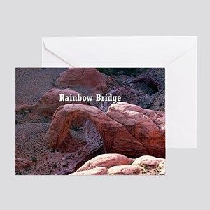 Rainbow Bridge, Utah, from air (capt Greeting Card
