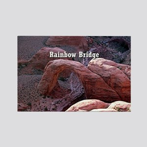 Rainbow Bridge, Utah, from air (c Rectangle Magnet