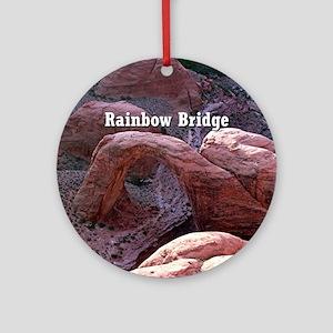 Rainbow Bridge, Utah, from air (cap Round Ornament
