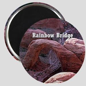 Rainbow Bridge, Utah, from air (caption) Magnet