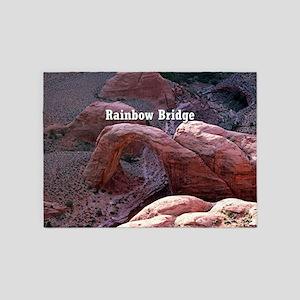 Rainbow Bridge, Utah, from air (cap 5'x7'Area Rug