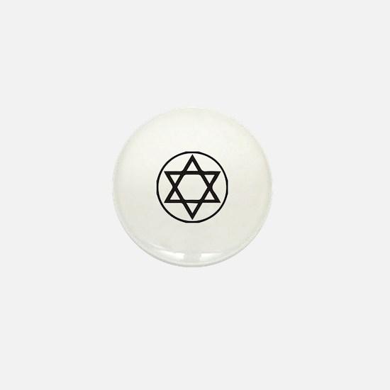Jewish Star Mini Button