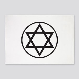 Jewish Star 5'x7'Area Rug
