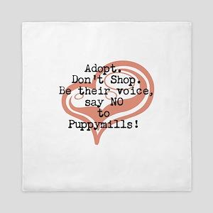 Say NO to puppymills Queen Duvet