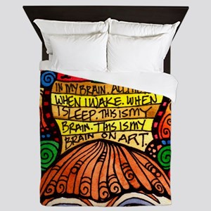 ART BRAIN (This is your brain on Art) Queen Duvet