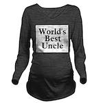 worldsbestuncle_black Long Sleeve Maternity T-