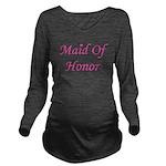maidofhonor_heart_TR Long Sleeve Maternity T-S
