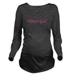 2-flowergirl_TR Long Sleeve Maternity T-Shirt