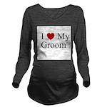 iheartmygroom.png Long Sleeve Maternity T-Shirt