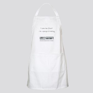 I SAW HER FIRST Apron