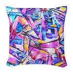 Fractal Prism1 Woven Throw Pillow