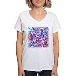Fractal Prism1 Women's V-Neck T-Shirt