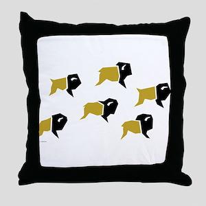 Colorado Buffalo Herd Throw Pillow