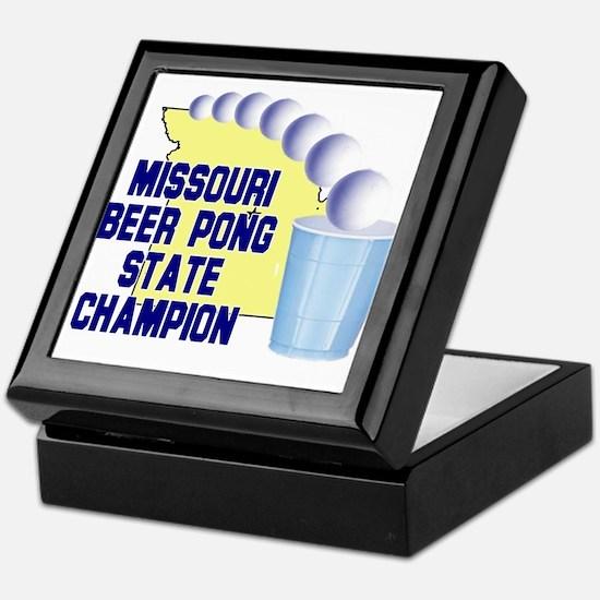 Missouri Beer Pong State Cham Keepsake Box