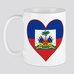 Haiti Flag Heart Mug