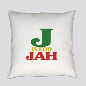 J is for Jah Everyday Pillow