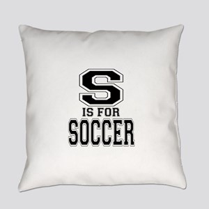 S is for Soccer Everyday Pillow
