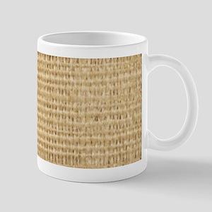 rustic western country beige burlap Mugs