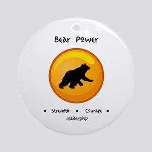 Circle Bear Totem Power Gifts Round Ornament