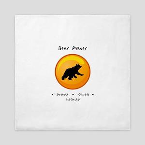 Circle Bear Totem Power Gifts Queen Duvet