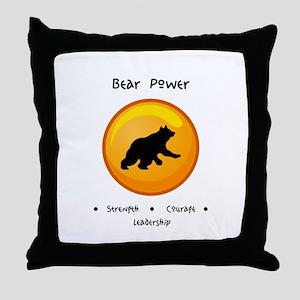 Circle Bear Totem Power Gifts Throw Pillow