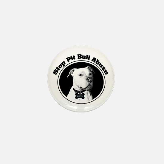 Stop Pitbull Abuse Mini Button