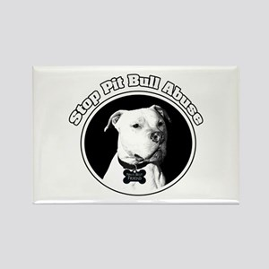 Stop Pitbull Abuse Rectangle Magnet