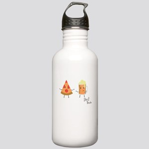 Best Buds Beer And Piz Stainless Water Bottle 1.0L