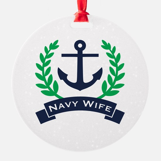 Navy Wife Anchor Ornament