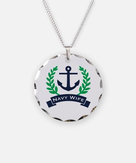 Navy Wife Anchor Necklace
