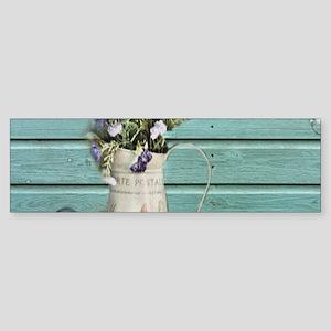 turquoise barn wood lavender Bumper Sticker