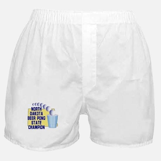 North Dakota Beer pong State Boxer Shorts