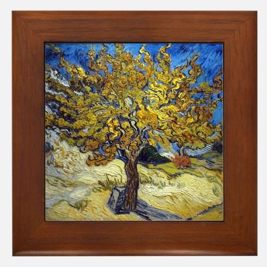 Van Gogh Mulberry Tree Framed Tile