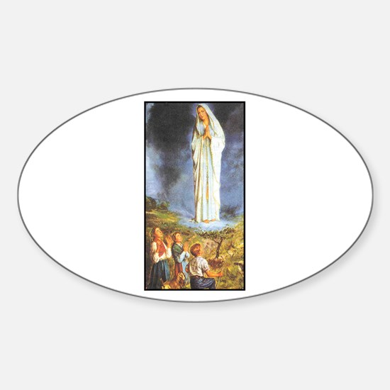 Our Lady of the Rosary - Fati Oval Decal