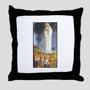 Our Lady of the Rosary - Fati Throw Pillow