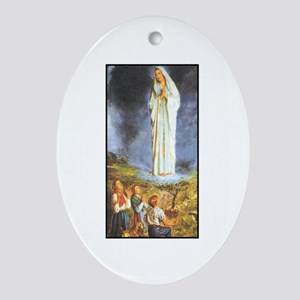 Our Lady of the Rosary - Fati Oval Ornament