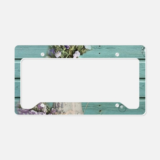 turquoise barn wood lavender License Plate Holder